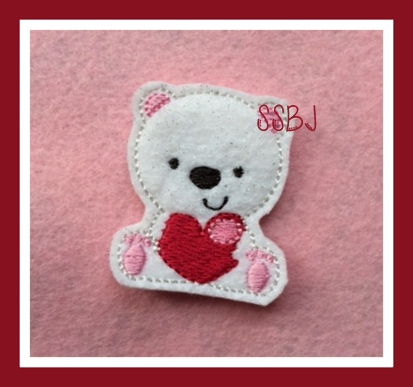 Penelope Polar Bear Embroidery File