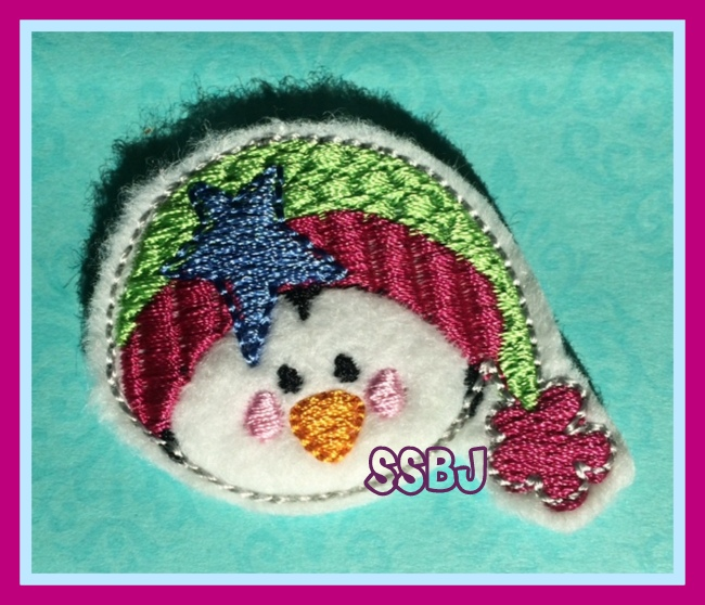 Star Bright Penguin Embroidery File