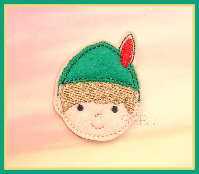 Peter Pan FACE Embroidery File