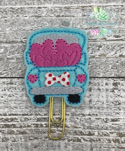 SSBJ Pick up Truck Hearts Embroidery File