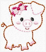 LBS Piggie Embroidery File