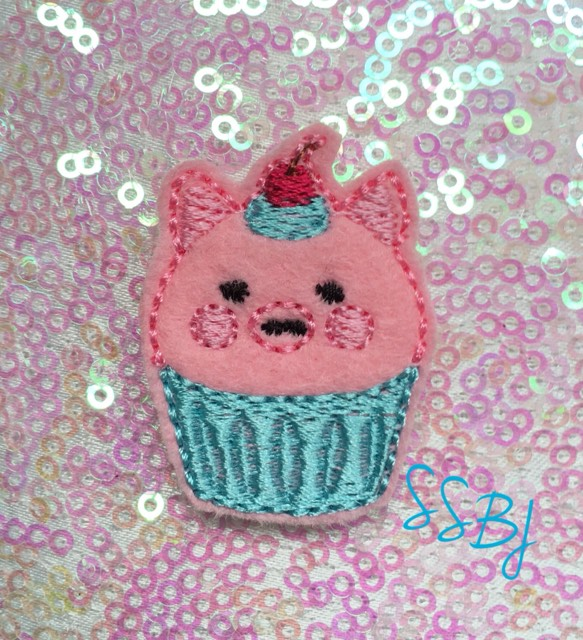 SSBJ Animal Cake Piggy Embroidery File
