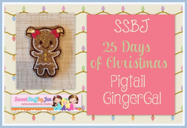 SSBJ Pigtail Gingergal Embroidery File