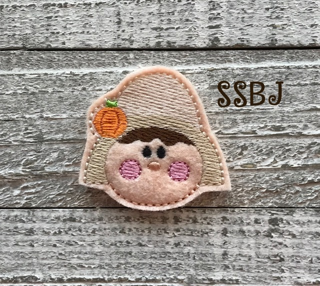 SSBJ Pilgrim Girl Embroidery File