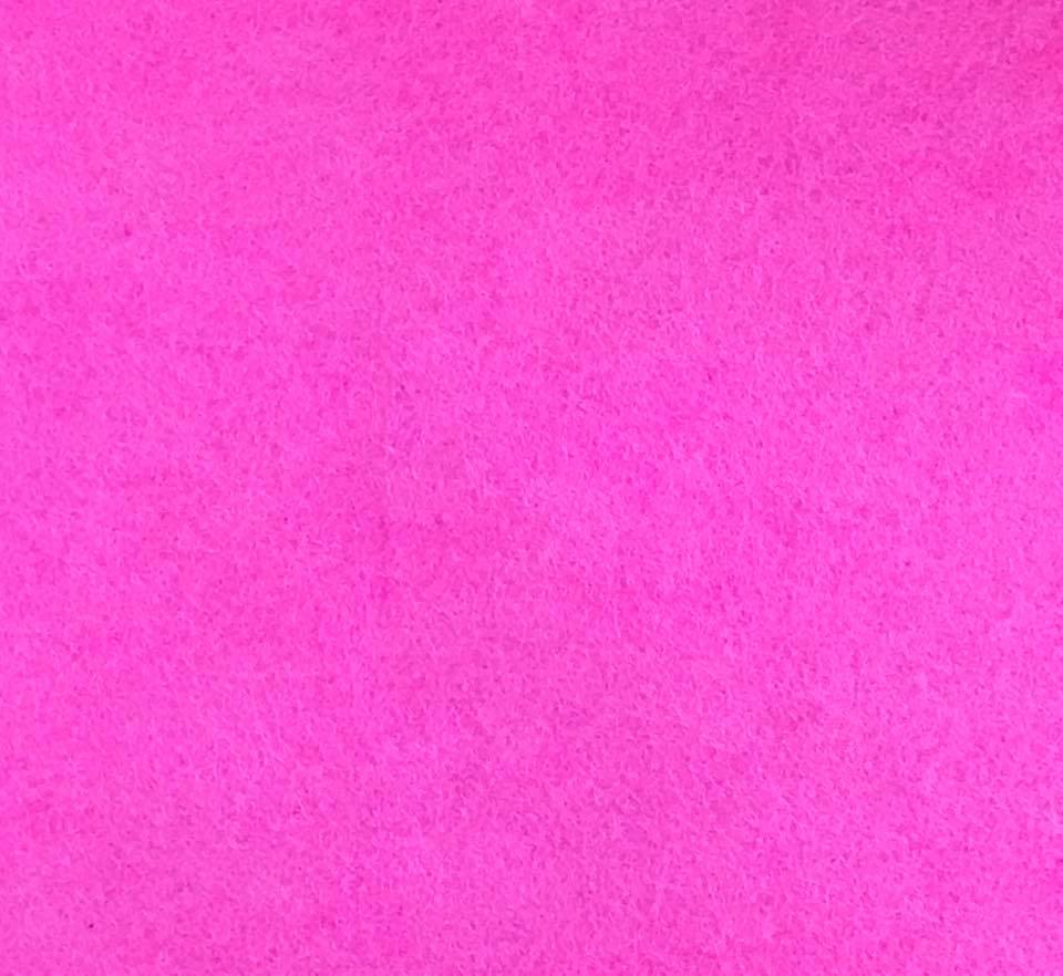 Pink October Wool Blend Felt