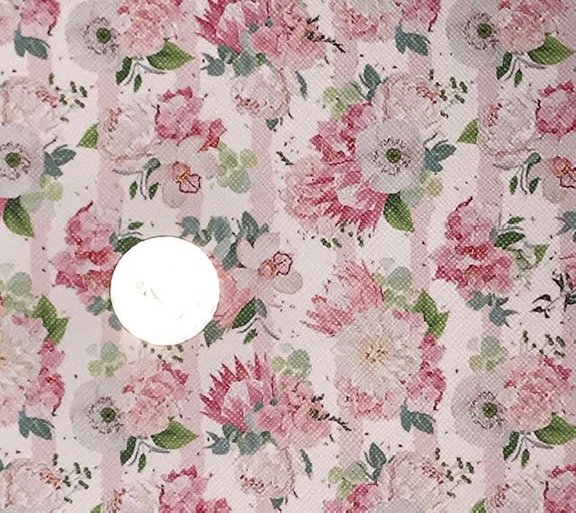 Pink Peony Embroidery Vinyl