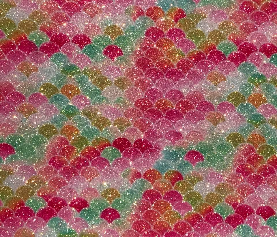 Mermaid Garden HOT Pink Paradise Embroidery Vinyl