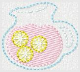 Pitcher of Lemonade Embroidery File