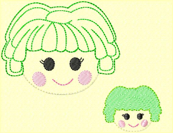 Plain La Embroidery Files Set