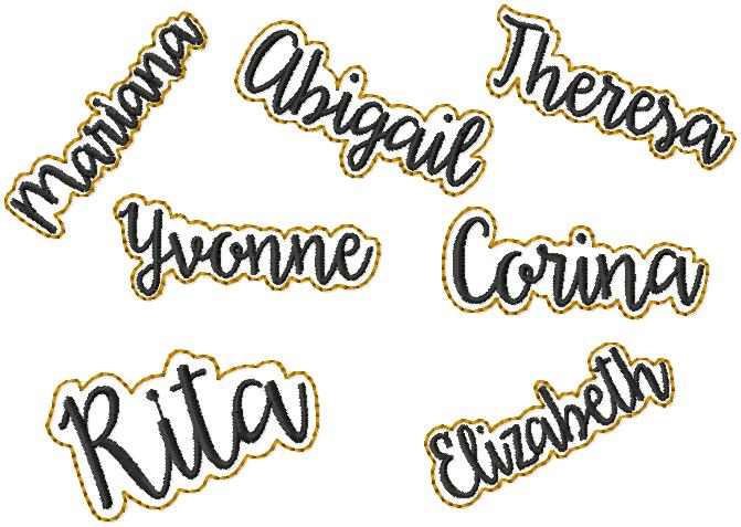 Personalized Name Embroidery File