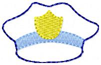 Police Hat Embroidery File