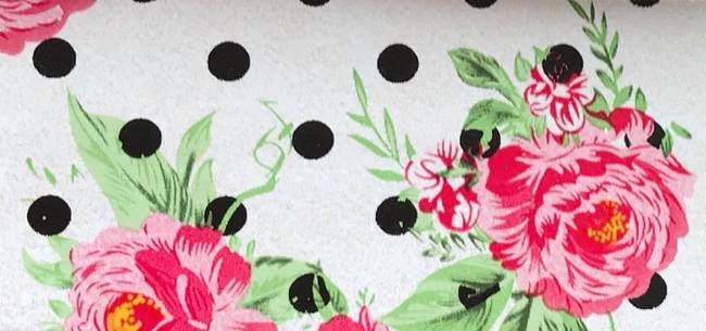 Polka Dot Rose Embroidery Vinyl