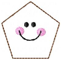 Smiley Polygon Embroidery File