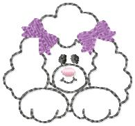 Paris Poodle Embroidery File