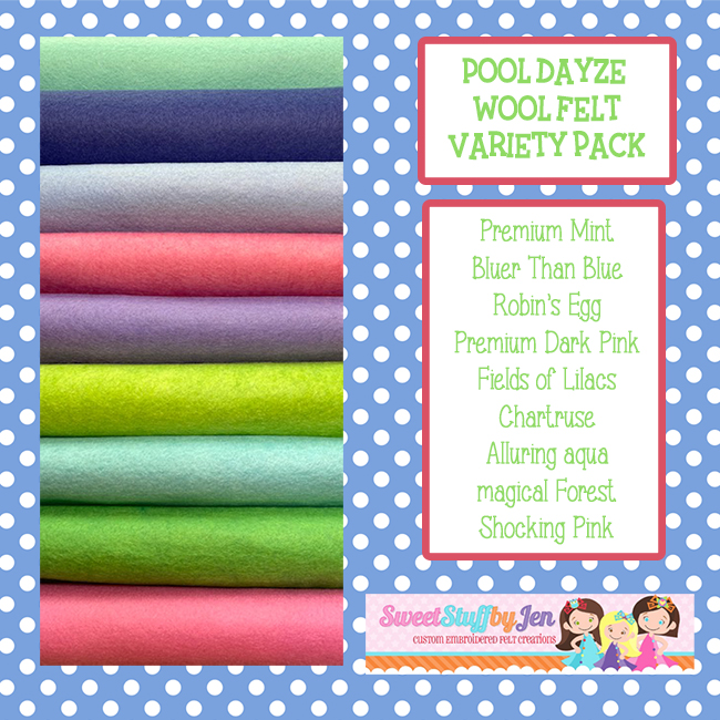 Pool Dayze Wool Blend Felt Variety Pack