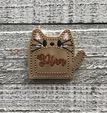 SSBJ Post It Note Kitty Embroidery File