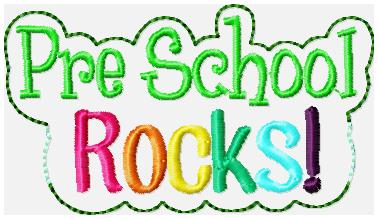 Pre School ROCKS Embroidery File
