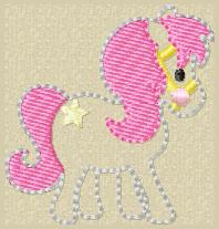 SSBJ Pretty Pony Embroidery File
