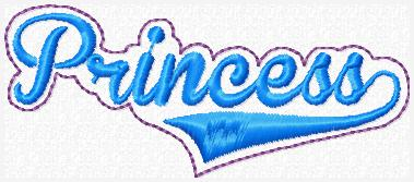 Princess Glam Band Embroidery File