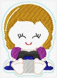 Princess Babie Anna Embroidery File