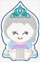 Princess Babie Elsa Embroidery File