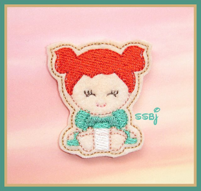 Princess Babie Merida Embroidery File