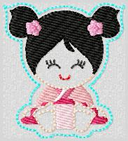 Princess Babie Mulan Embroidery File