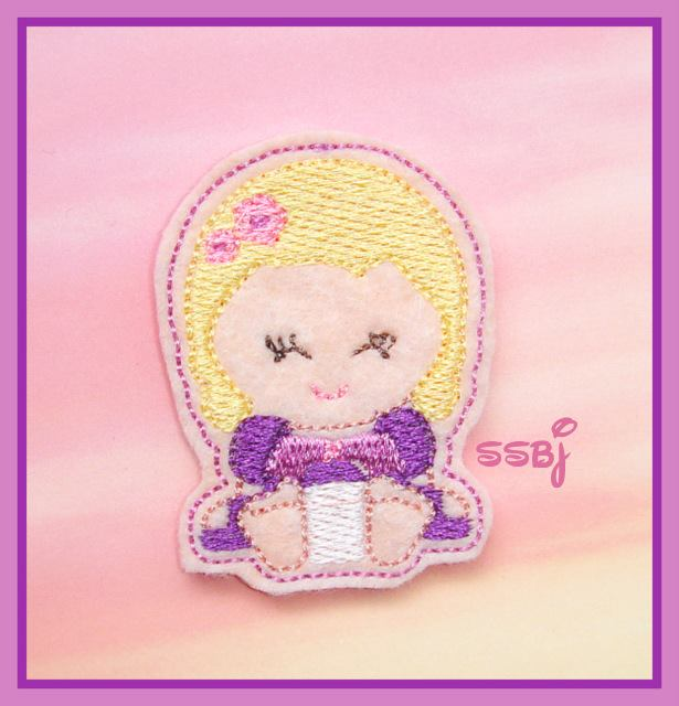 Princess Babie Rapunzel Embroidery File