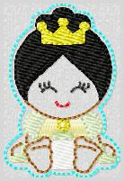 Princess Babie Tiana Embroidery File