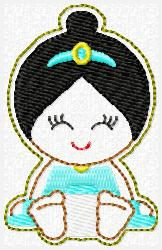 Princess Babie Jasmine Embroidery File