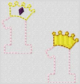 Princess Crown 1 Embroidery File