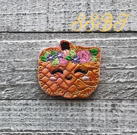 SSBJ Flower Tiara Pumpkin Embroidery File