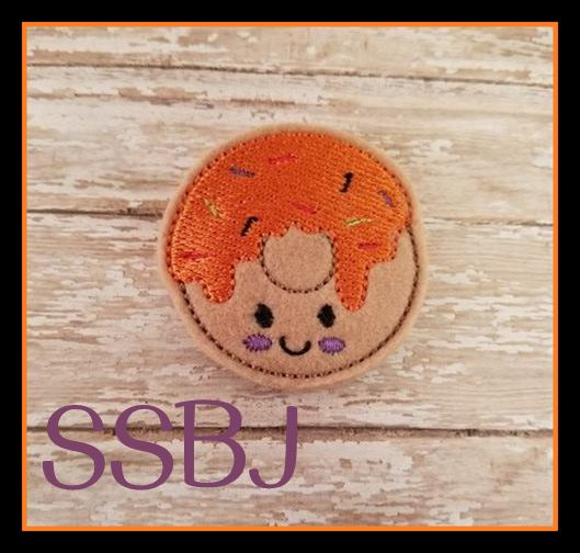 SSBJ Pumpkin Donut  Embroidery File