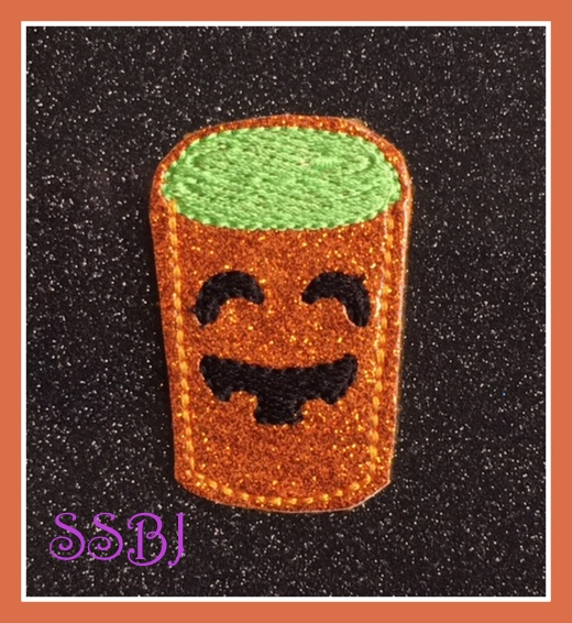 SSBJ Pumpkin Face Latte Embroidery File