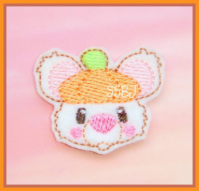 Pumpkin Mouse Embroidery File