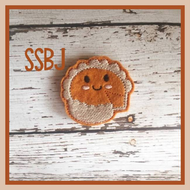 SSBJ Thanksgiving Pie FULL Pie Embroidery File
