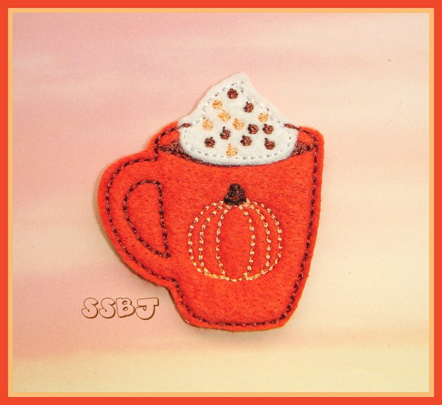 Pumpkin Spice Cocoa Embroidery File
