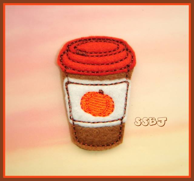 Pumpkin Spice Latte Embroidery File