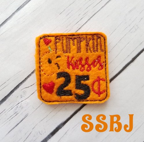 SSBJ Pumpkin Kisses 25Embroidery File