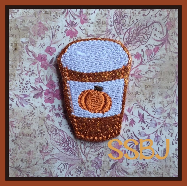SSBJ Pumpkin Spice Latte FILL Embroidery File