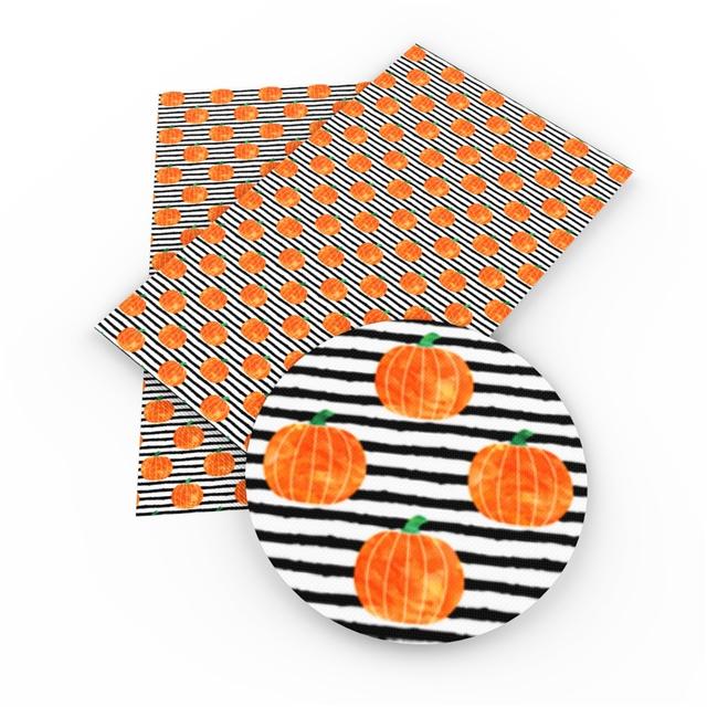 6x54 Black Stripe Pumpkin Printed embroidery Vinyl