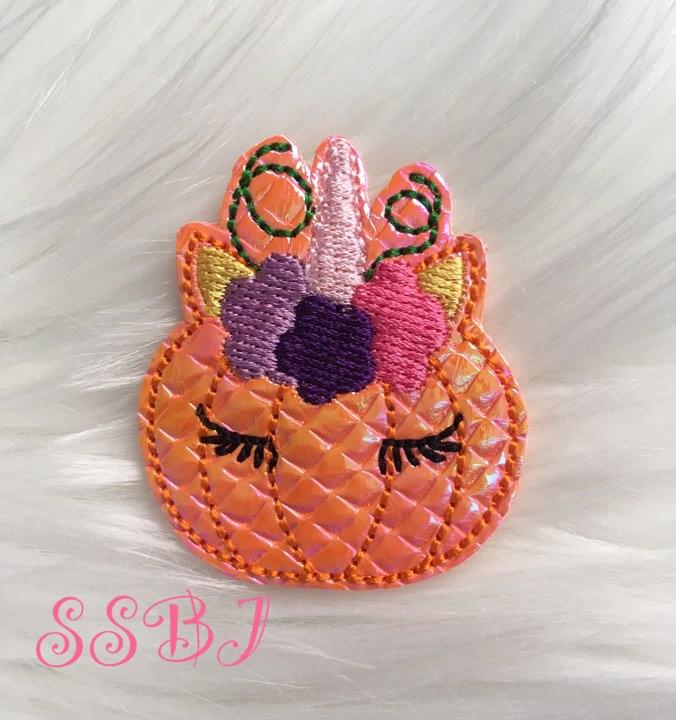 SSBJ Pumpkin Unicorn Embroidery File