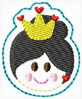 SS Princess Queen of Hearts 2 FACE Embroidery File