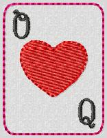 Q of Hearts Embroidery File