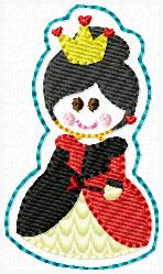 SS Princess Queen of Hearts Embroidery File
