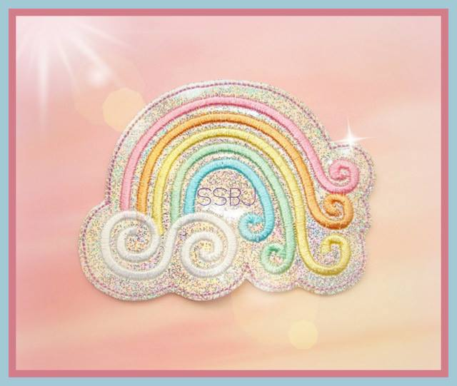 Spring Swirl Rainbow Embroidery File