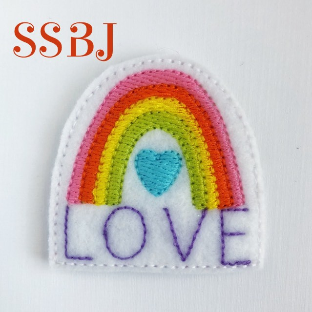 SSBJ Rainbow LOVE Embroidery File