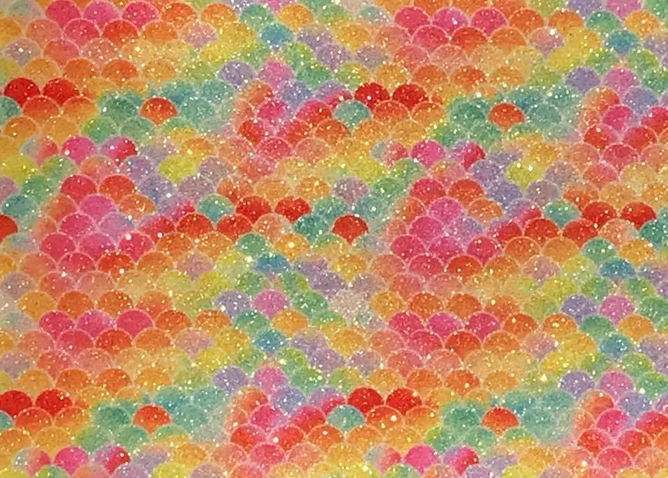 Mermaid Garden Rainbow Sherbet Embroidery Vinyl