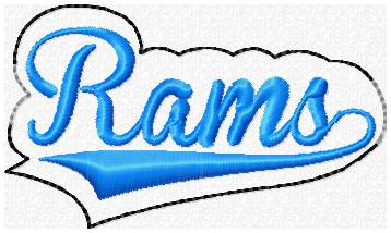 Rams Glam Band Embroidery File