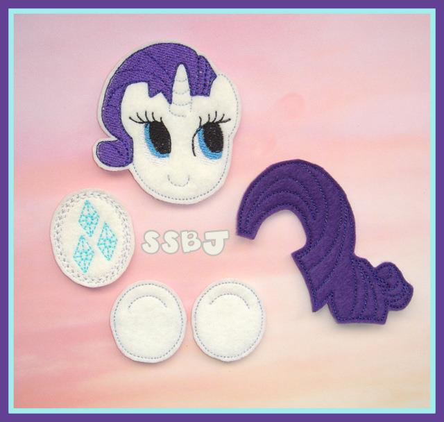 Little Pony Parts-Rarity Embroidery Files